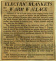 Electric blankets warm wallace