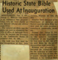 Historic state Bible used at inauguration