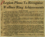 Legion plans to recognize Wallace ring achievements