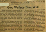 Gov Wallace does well