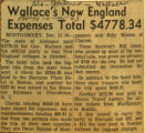 Wallaces New England expenses total 477834