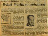 What Wallace achieved