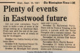 Plenty of events in Eastwood future