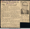"Ernest Ferrara is ""Mr. Crestwood"""