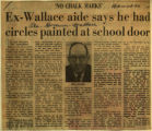 Ex Wallace aide says he had circles painted at school door