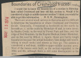 Boundaries of Crestwood traced