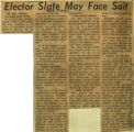 Elector slate may face suit
