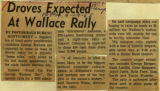 Droves expected at Wallace rally