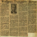 Wallace two party threat