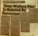 Stop Wallace plan is rejected by governors