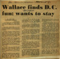 Wallace finds DC fun wants to stay
