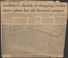 Architect's sketch of shopping center shows plans for old Howard campus