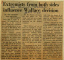 Extremists from both sides influence Wallace decision