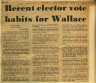 Recent elector vote habits for Wallace