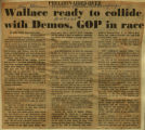 Wallace ready to collide with Demos GOP in race