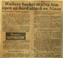 Wallace backer urging him open up hard attack on Nixon