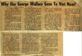Why has George Wallace gone to Viet Nam
