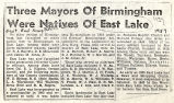 Three mayors of Birmingham were natives of East Lake