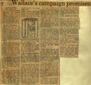 Wallaces campaign promises