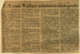 US ends Wallace administration probe