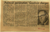 Political persecution Goodwin charges