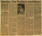 Profile the Wallace candidacy