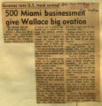 500 Miami businessmen give Wallace big ovation