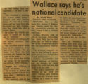 Wallace says hes national candidate