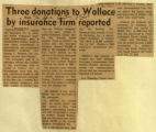 Three donations to Wallace by insurance firm reported