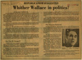 Whither Wallace in politics