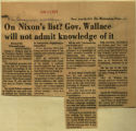 On Nixons list Gov Wallace will not admit knowledge of it