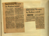 Interest in 76 by Wallace noted