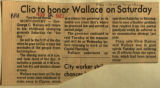 Clio to honor Wallace on Saturday