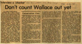 Dont count Wallace out yet