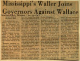 Mississippis Waller joins governors against Wallace