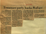 Tennessee party backs Wallace