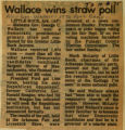 Wallace wins straw poll