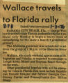 Wallace travels to Florida rally