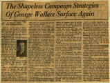 Shapeless campaign strategies of George Wallace surface again