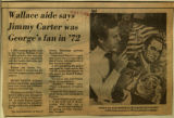 Wallace aide says Jimmy Carter was Georges fan in 72