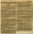 Wallace pulls stops against Carter
