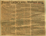 Blazed Carters way Wallace says