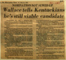 Wallace tells Kentuckians hes still viable candidate