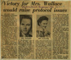 Victory for Mrs Wallace would raise protocol issues