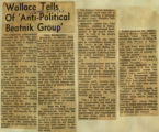 Wallace tells of anti political beatnik group