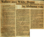 Wallace sees White House in Alabama vote