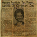 Marion Institute to honor Lurleen on Governors Day