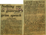 Nothing coy in governors grim speech