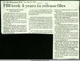 FBI took 4 years to release files