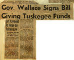 Gov Wallace signs bill giving Tuskegee funds
